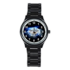 Energy Revolution Current Stainless Steel Round Watch