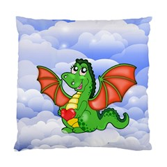 Dragon Heart Kids Love Cute Standard Cushion Case (two Sides) by Nexatart