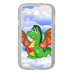 Dragon Heart Kids Love Cute Samsung Galaxy Grand Duos I9082 Case (white) by Nexatart