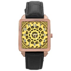 Gears Rose Gold Leather Watch