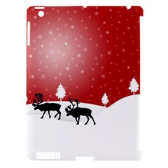 Reindeer In Snow Apple Ipad 3/4 Hardshell Case (compatible With Smart Cover)