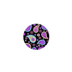 Paisley Pattern Background Colorful 1  Mini Magnets by Nexatart