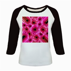 Gerbera Flower Nature Pink Blosso Kids Baseball Jerseys by Nexatart