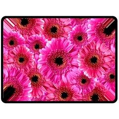 Gerbera Flower Nature Pink Blosso Double Sided Fleece Blanket (large)  by Nexatart
