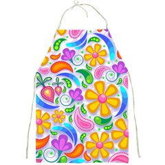 Floral Paisley Background Flower Full Print Aprons by Nexatart