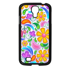 Floral Paisley Background Flower Samsung Galaxy S4 I9500/ I9505 Case (black) by Nexatart