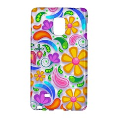Floral Paisley Background Flower Galaxy Note Edge by Nexatart