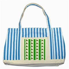 Holly Striped Blue Tote Bag