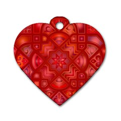 Geometric Line Art Background Dog Tag Heart (one Side) by Nexatart