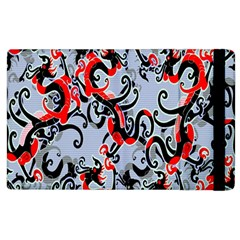 Dragon Pattern Apple Ipad 2 Flip Case