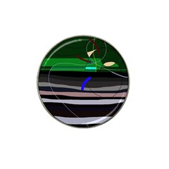 Abstraction Hat Clip Ball Marker by Valentinaart