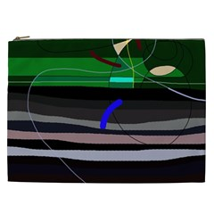 Abstraction Cosmetic Bag (xxl)  by Valentinaart