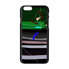 Abstraction Apple Iphone 6/6s Black Enamel Case