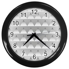 Pattern Retro Background Texture Wall Clocks (black)