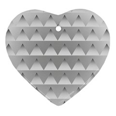 Pattern Retro Background Texture Heart Ornament (two Sides) by Nexatart