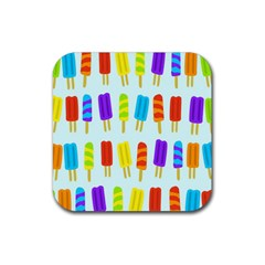 Food Pattern Rubber Coaster (square)