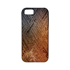 Typography Apple Iphone 5 Classic Hardshell Case (pc+silicone)