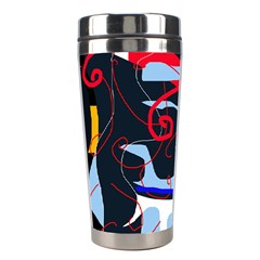 Abstraction Stainless Steel Travel Tumblers by Valentinaart