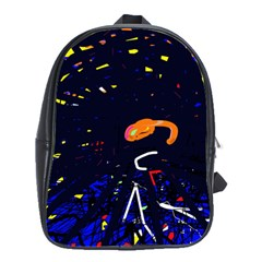 Abstraction School Bags(large)  by Valentinaart