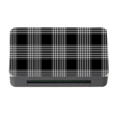 Plaid Checks Background Black Memory Card Reader With Cf