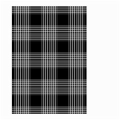 Plaid Checks Background Black Small Garden Flag (two Sides)