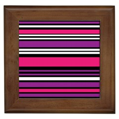 Stripes Colorful Background Framed Tiles