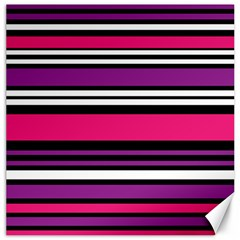 Stripes Colorful Background Canvas 12  X 12   by Nexatart