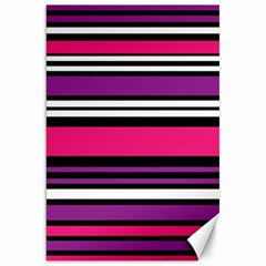 Stripes Colorful Background Canvas 20  X 30   by Nexatart