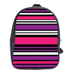 Stripes Colorful Background School Bags (xl)