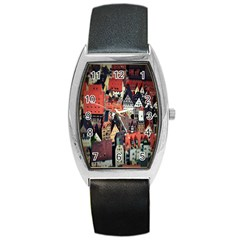 Tilt Shift Of Urban View During Daytime Barrel Style Metal Watch by Nexatart