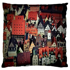 Tilt Shift Of Urban View During Daytime Large Flano Cushion Case (two Sides) by Nexatart