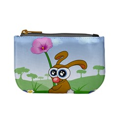 Easter Spring Flowers Happy Mini Coin Purses