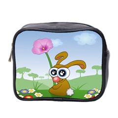 Easter Spring Flowers Happy Mini Toiletries Bag 2 Side by Nexatart