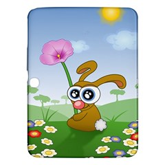 Easter Spring Flowers Happy Samsung Galaxy Tab 3 (10 1 ) P5200 Hardshell Case  by Nexatart