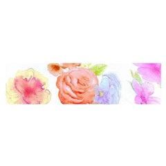 Watercolor Colorful Roses Satin Scarf (oblong) by Brittlevirginclothing