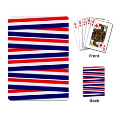 Red White Blue Patriotic Ribbons Playing Card by Nexatart