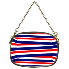 Red White Blue Patriotic Ribbons Chain Purses (one Side)  by Nexatart