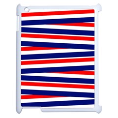 Red White Blue Patriotic Ribbons Apple Ipad 2 Case (white) by Nexatart