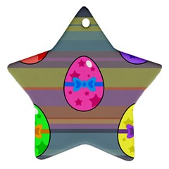 Holidays Occasions Easter Eggs Ornament (star) by Nexatart
