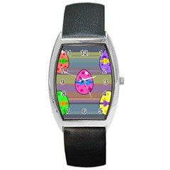 Holidays Occasions Easter Eggs Barrel Style Metal Watch