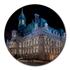 Montreal Quebec Canada Building Round Mousepads by Nexatart