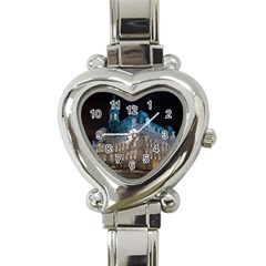 Montreal Quebec Canada Building Heart Italian Charm Watch by Nexatart