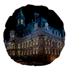 Montreal Quebec Canada Building Large 18  Premium Round Cushions by Nexatart