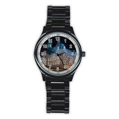 Montreal Quebec Canada Building Stainless Steel Round Watch by Nexatart