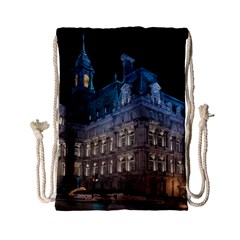 Montreal Quebec Canada Building Drawstring Bag (small)