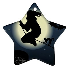 Halloween Card With Witch Vector Clipart Ornament (star)