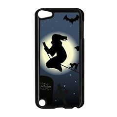 Halloween Card With Witch Vector Clipart Apple Ipod Touch 5 Case (black) by Nexatart