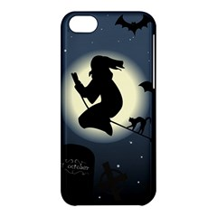 Halloween Card With Witch Vector Clipart Apple Iphone 5c Hardshell Case by Nexatart