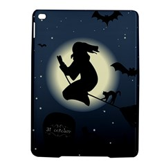 Halloween Card With Witch Vector Clipart Ipad Air 2 Hardshell Cases by Nexatart