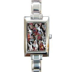 Quilt Rectangle Italian Charm Watch by Nexatart